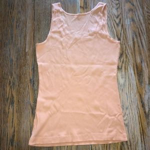GARNET HILL Nectarine ribbed tank/New in bag